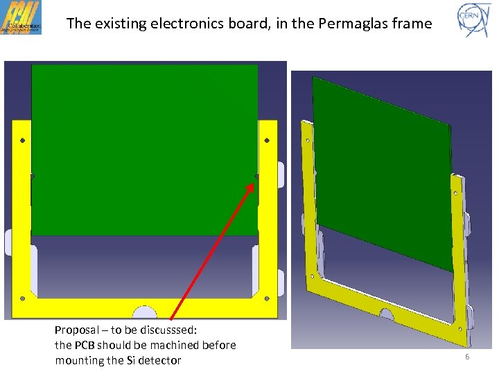 The existing electronics board, in the Permaglas frame Proposal – to be discusssed: the