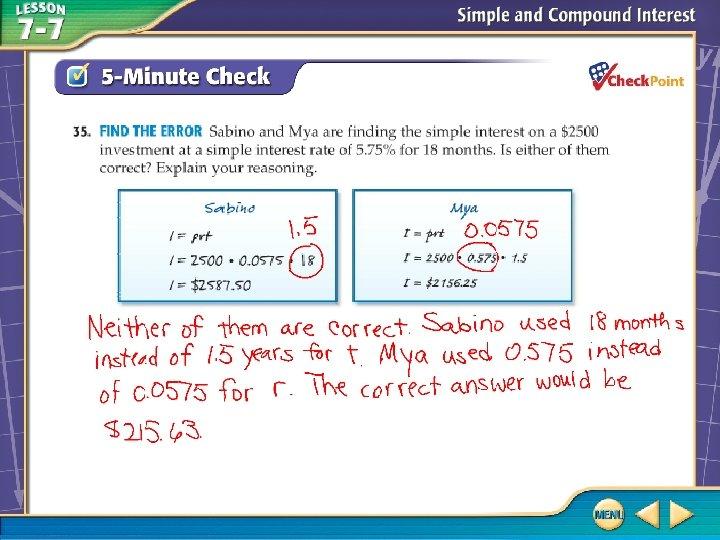 Over Lesson 7– 6