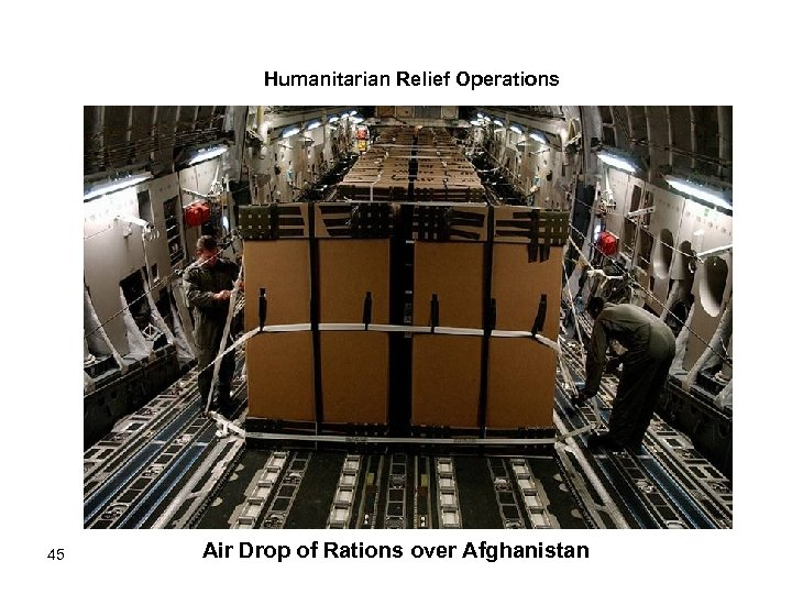 Humanitarian Relief Operations 45 Air Drop of Rations over Afghanistan