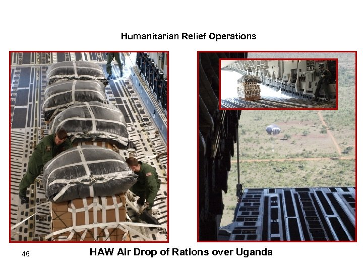 Humanitarian Relief Operations 46 HAW Air Drop of Rations over Uganda