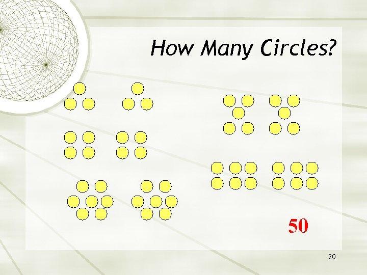 How Many Circles? 50 20