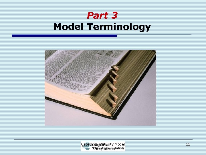 Part 3 Model Terminology Capability Maturity Model Integration 55