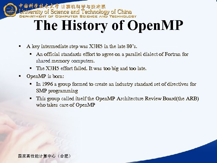 The History of Open. MP § A key intermediate step was X 3 H