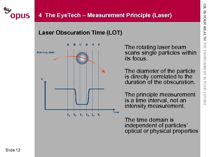 Laser Obscuration Time (LOT) · Click to A B Master text styles The rotating