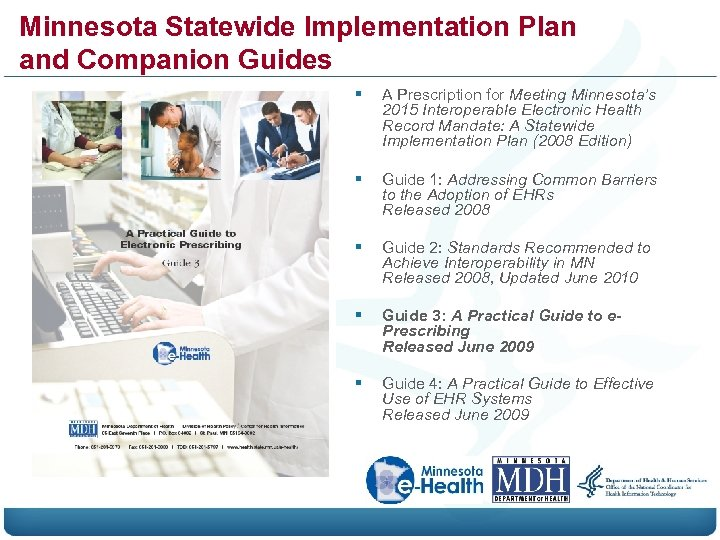 Minnesota Statewide Implementation Plan and Companion Guides § A Prescription for Meeting Minnesota's 2015