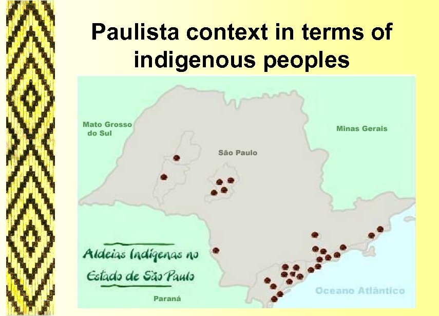 Paulista context in terms of indigenous peoples