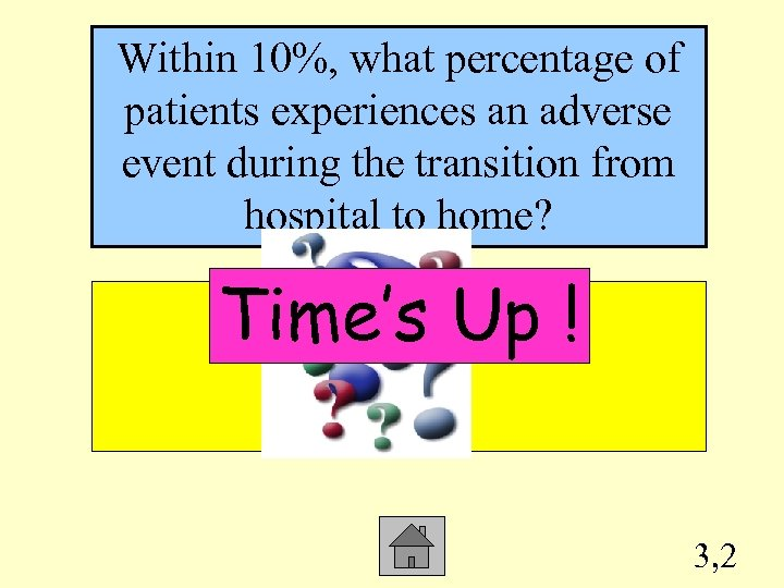 Within 10%, what percentage of patients experiences an adverse event during the transition from