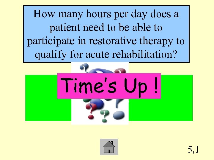 How many hours per day does a patient need to be able to participate
