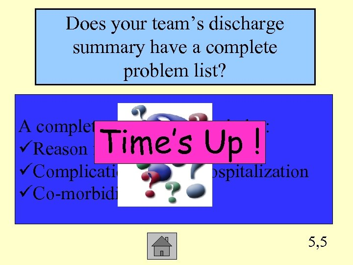 Does your team's discharge summary have a complete problem list? A complete problem list