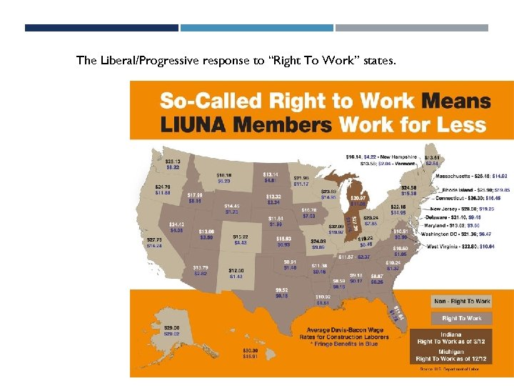"""The Liberal/Progressive response to """"Right To Work"""" states."""