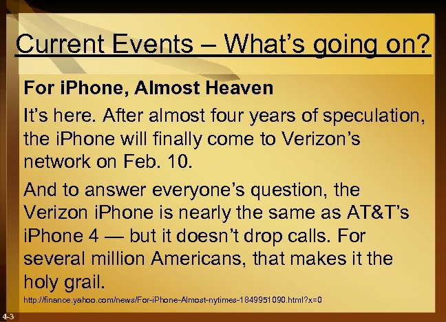 Current Events – What's going on? For i. Phone, Almost Heaven It's here. After