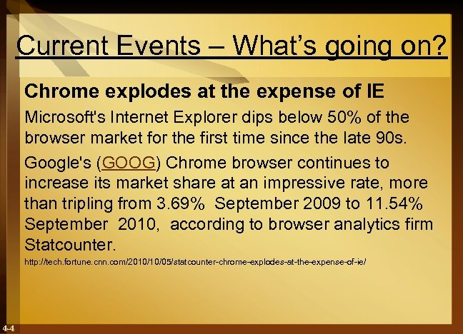 Current Events – What's going on? Chrome explodes at the expense of IE Microsoft's