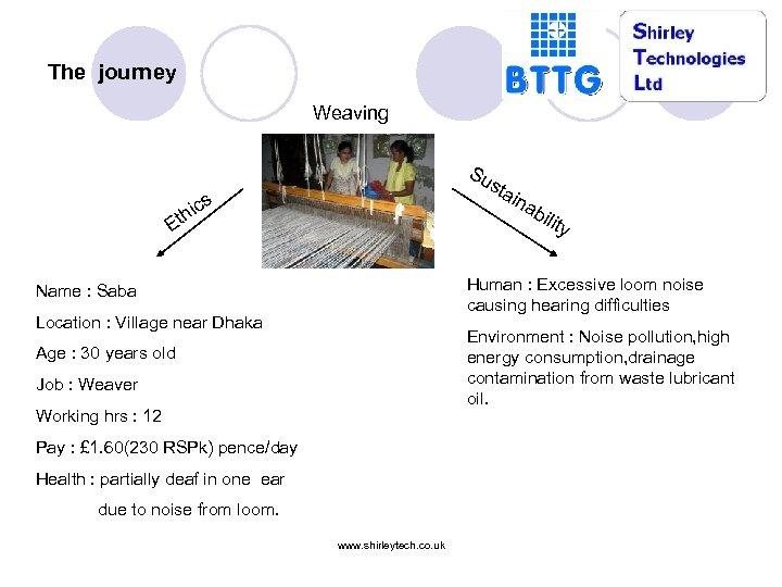 The journey Weaving Su sta ina ics th bil ity E Human : Excessive