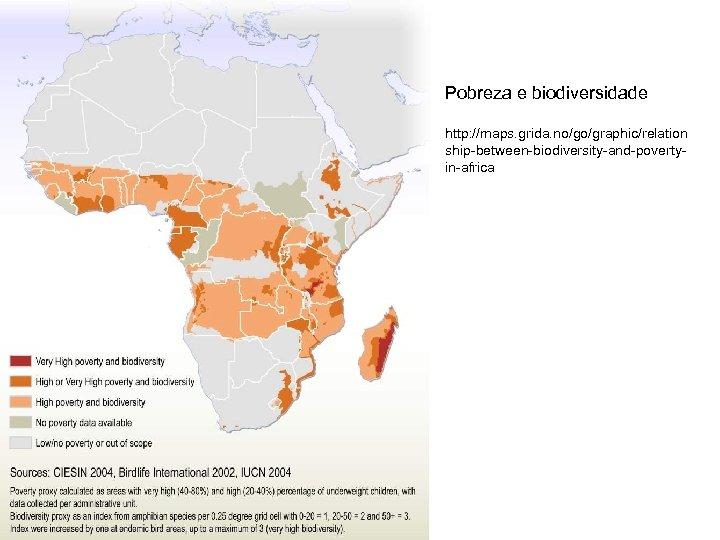 Pobreza e biodiversidade http: //maps. grida. no/go/graphic/relation ship-between-biodiversity-and-povertyin-africa