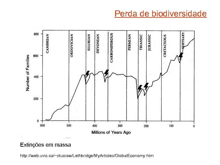 Perda de biodiversidade Extinções em massa http: //web. uvic. ca/~stucraw/Lethbridge/My. Articles/Global. Economy. htm