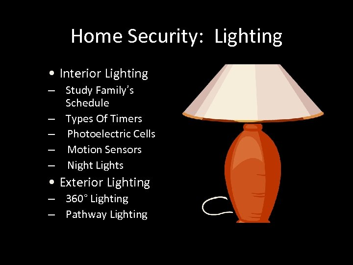 Home Security: Lighting • Interior Lighting – Study Family's Schedule – Types Of Timers