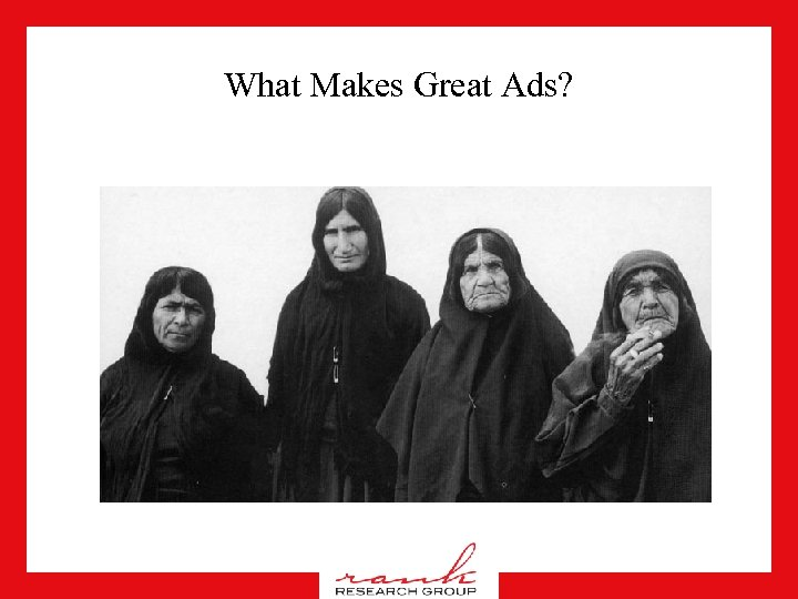What Makes Great Ads?