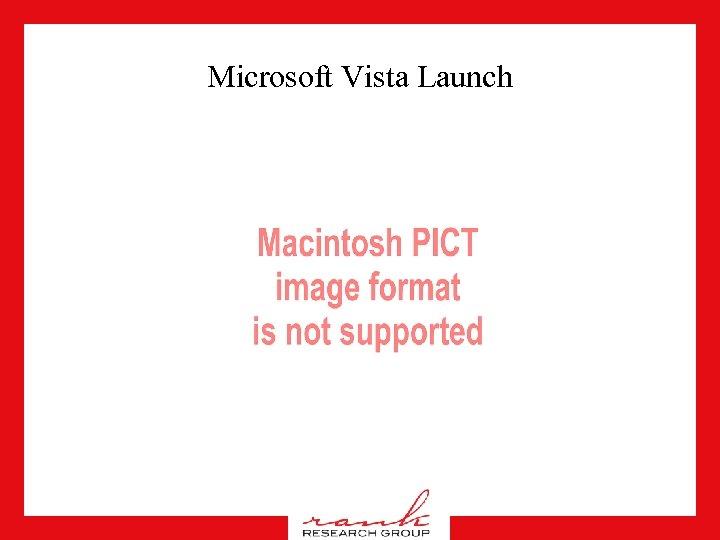 Microsoft Vista Launch