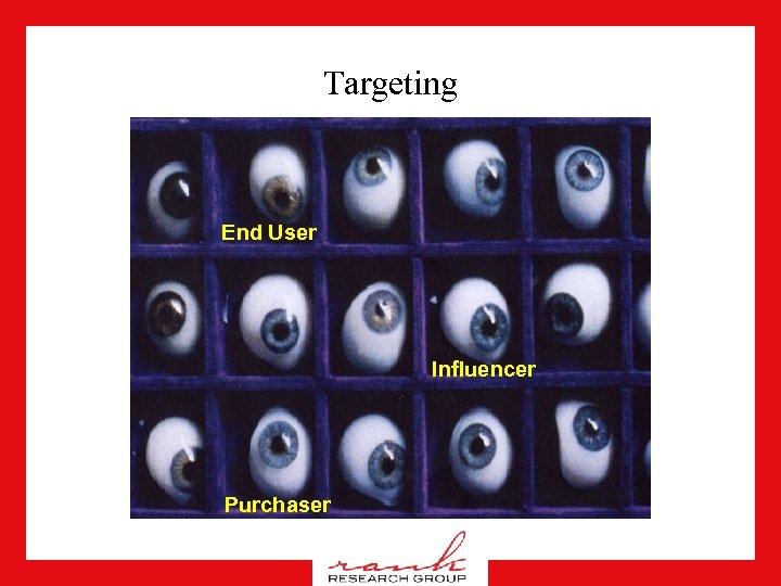 Targeting End User Influencer Purchaser