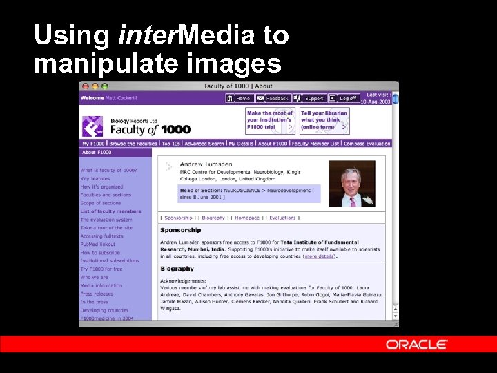 Using inter. Media to manipulate images