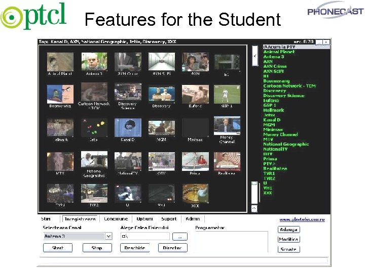 Features for the Student