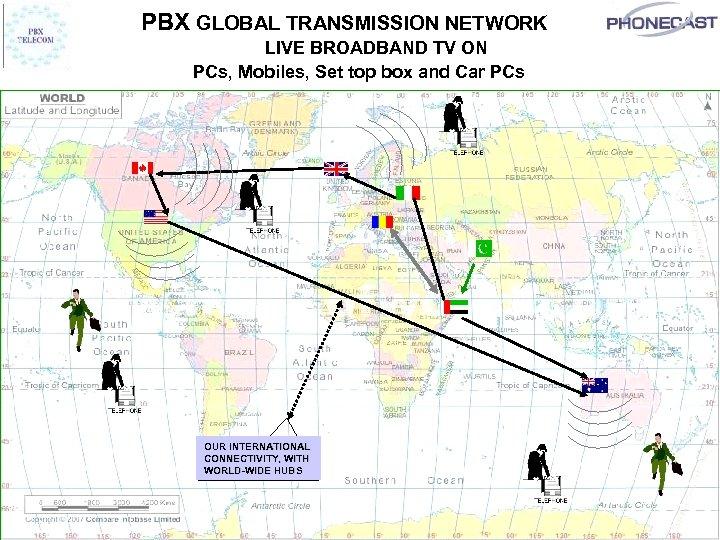 PBX GLOBAL TRANSMISSION NETWORK LIVE BROADBAND TV ON PCs, Mobiles, Set top box and