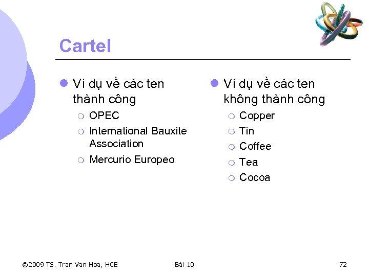 Cartel l Ví dụ về các ten thành công m m m l Ví