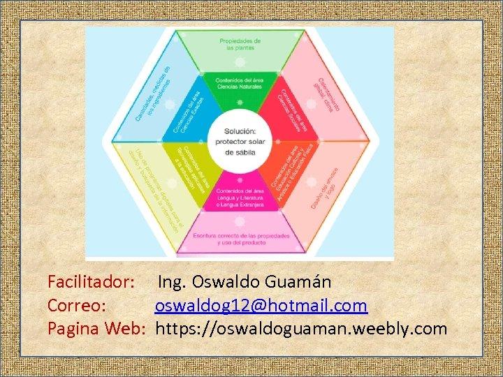 Facilitador: Ing. Oswaldo Guamán Correo: oswaldog 12@hotmail. com Pagina Web: https: //oswaldoguaman. weebly. com