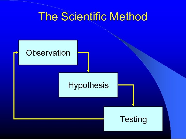 The Scientific Method Observation Hypothesis Testing