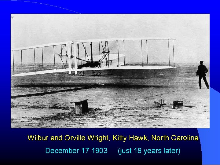 Wilbur and Orville Wright, Kitty Hawk, North Carolina December 17 1903 (just 18 years