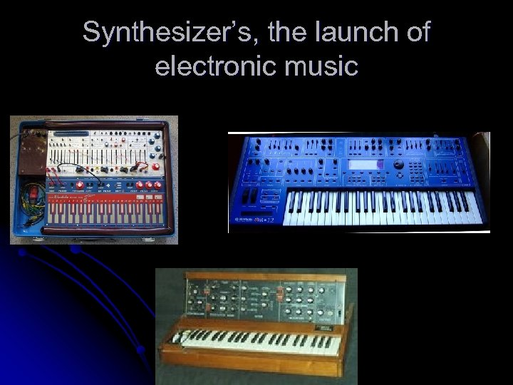Synthesizer's, the launch of electronic music