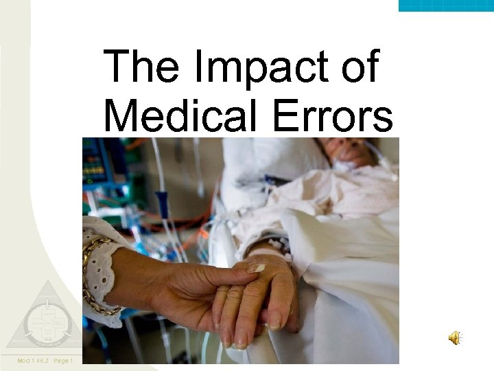 Valley. Care ™ The Impact of Medical Errors Mod 1 06. 2 Page 1