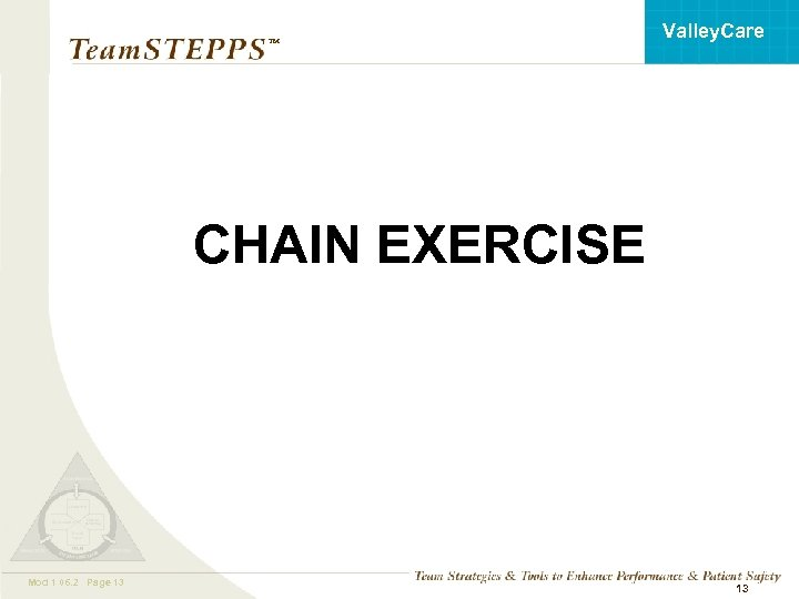 Valley. Care ™ CHAIN EXERCISE Mod 1 06. 2 Page 13 Mod 1 05.