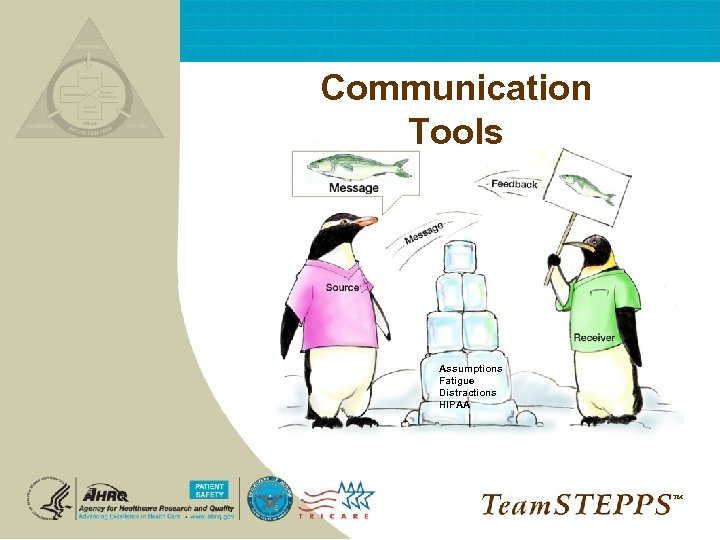 Communication Tools Assumptions Fatigue Distractions HIPAA ™