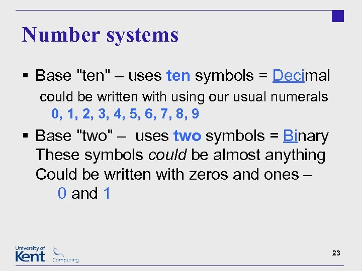 Number systems § Base