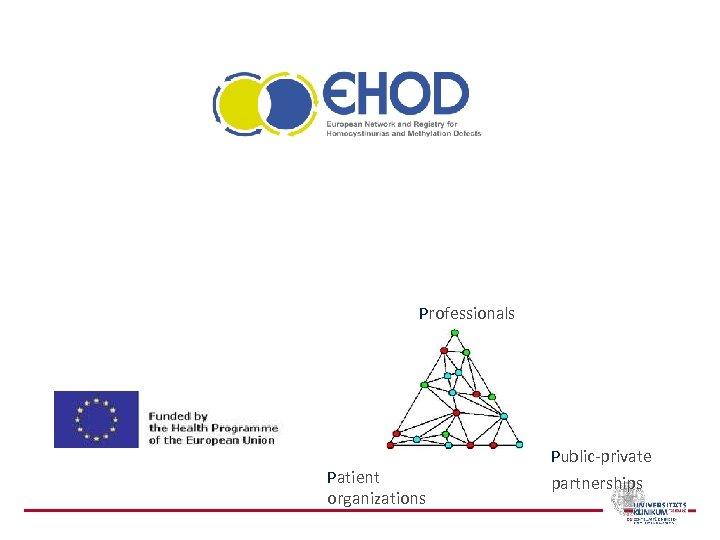 Professionals Patient organizations Public-private partnerships