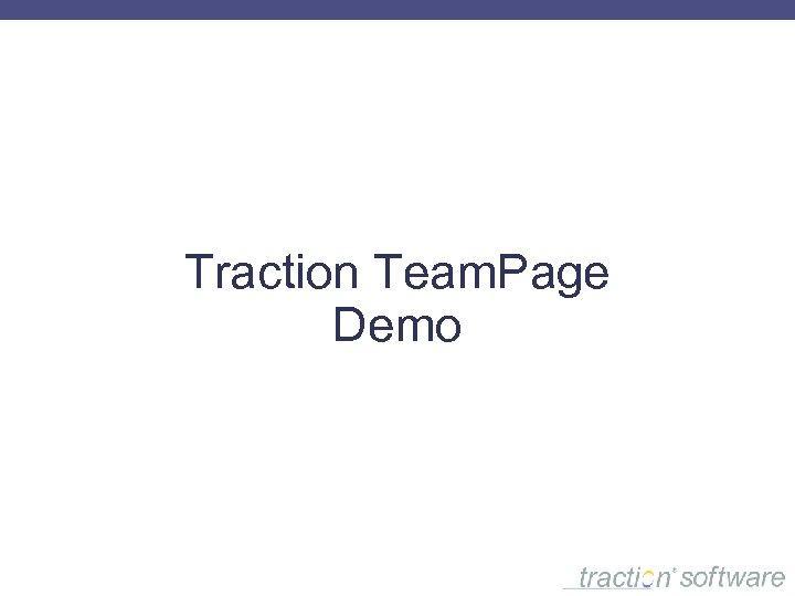 Traction Team. Page Demo