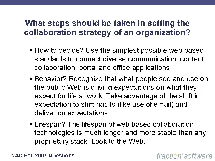 What steps should be taken in setting the collaboration strategy of an organization? §