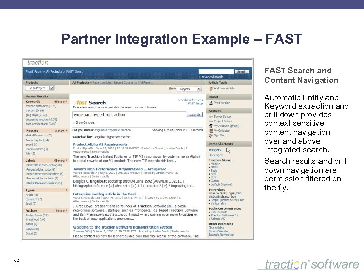 Partner Integration Example – FAST Search and Content Navigation Automatic Entity and Keyword extraction