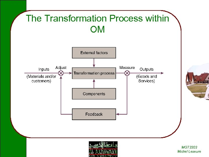 The Transformation Process within OM MGT 3303 Michel Leseure