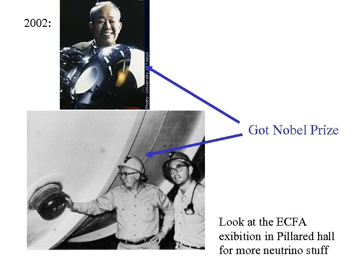 2002: Got Nobel Prize Look at the ECFA exibition in Pillared hall for more