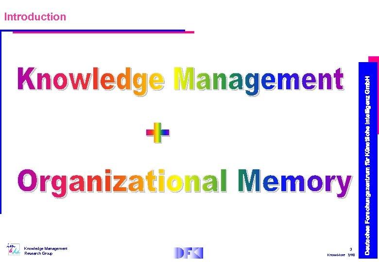 Knowledge Management Research Group 3 Know. More 3/98 Deutsches Forschungszentrum für Künstliche Intelligenz Gmb.