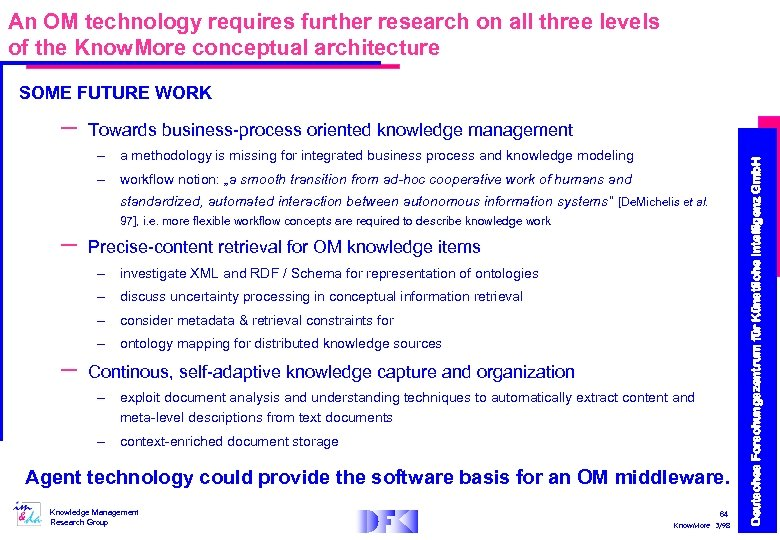 An OM technology requires further research on all three levels of the Know. More