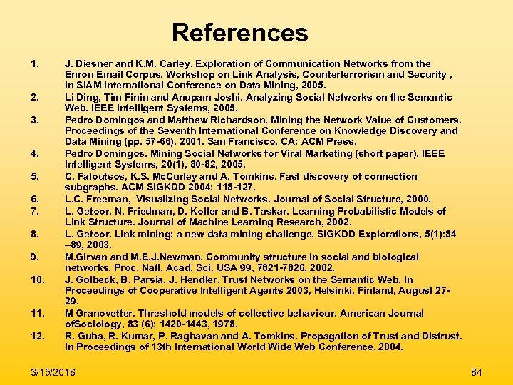 References 1. 2. 3. 4. 5. 6. 7. 8. 9. 10. 11. 12. J.