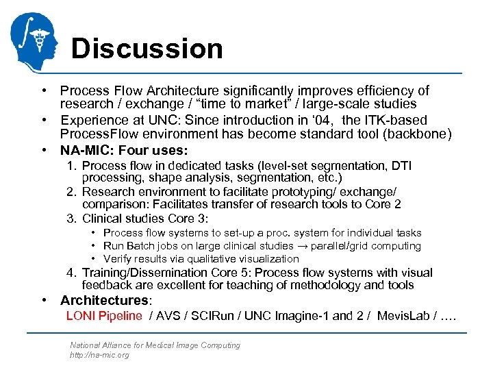 """Discussion • Process Flow Architecture significantly improves efficiency of research / exchange / """"time"""