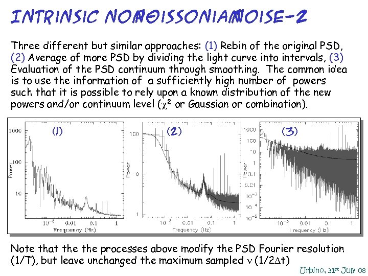 Intrinsic non. Poissonian noise-2 Three different but similar approaches: (1) Rebin of the original