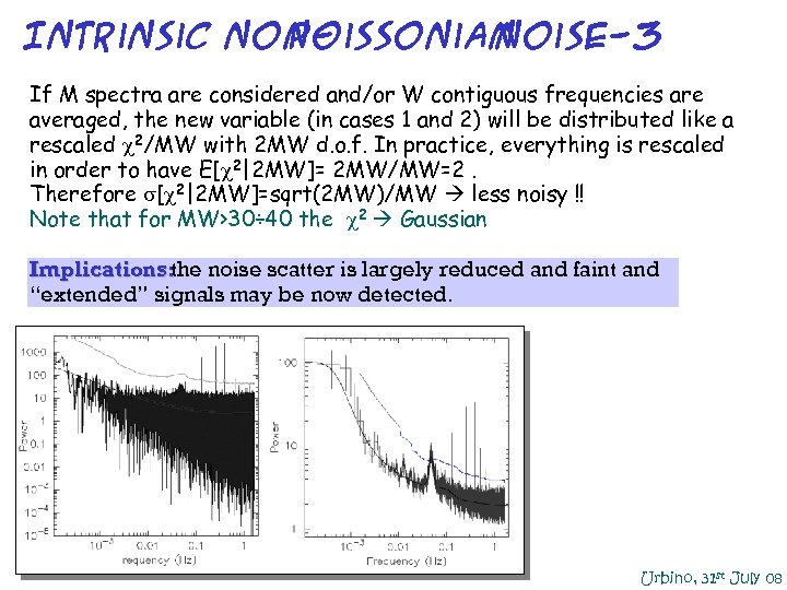 Intrinsic non. Poissonian noise-3 If M spectra are considered and/or W contiguous frequencies are