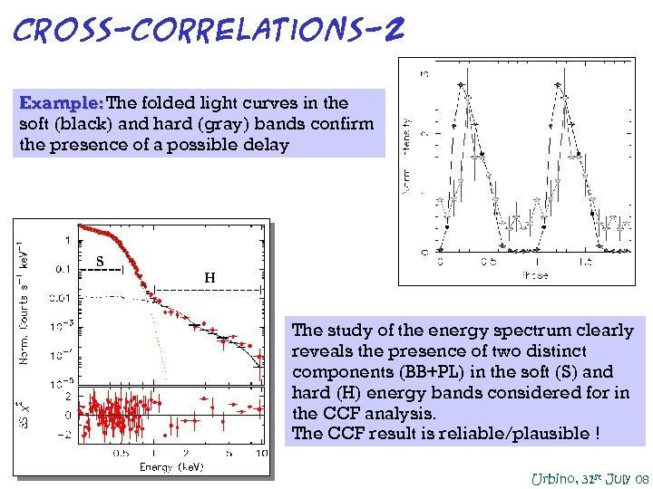 Cross-correlations-2 Example: The folded light curves in the soft (black) and hard (gray) bands