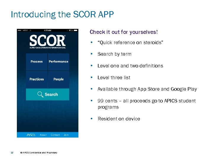 "Introducing the SCOR APP Check it out for yourselves! • ""Quick reference on steroids"""