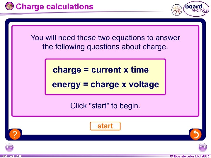 Charge calculations © Boardworks Ltd 2005